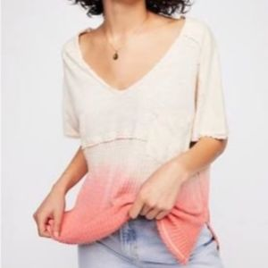 Free People We the Free Ombre Sun Dial Tee NWT